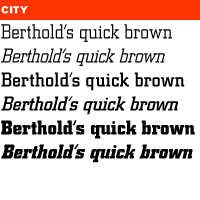 Berthold City BE - Desktop font MyFontsberthold city