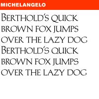 MICHELANGELO BQ FONT