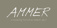 Ammer Handwriting Font Download