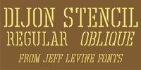 Dijon Stencil JNL Font Download