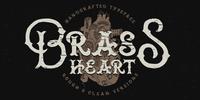 Brass Heart Font Download