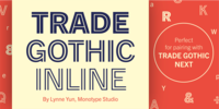 Trade Gothic Inline Font Download