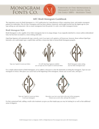 MFC Bindi Monogram Guidebook