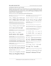 Willimas Caslon Text OT Features