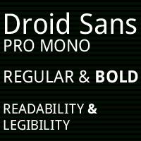 Droid Sans Mono Pro Poster