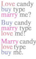 Poster - Love buy marry type by Harald Geisler