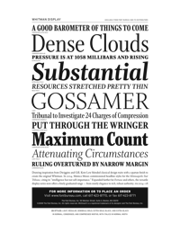 Whitman Display Specimen PDF by Font Bureau