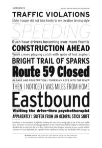 Interstate Specimen PDF by Font Bureau