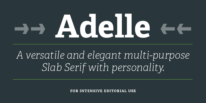 Adelle sans font | try, buy and download | typetogether.