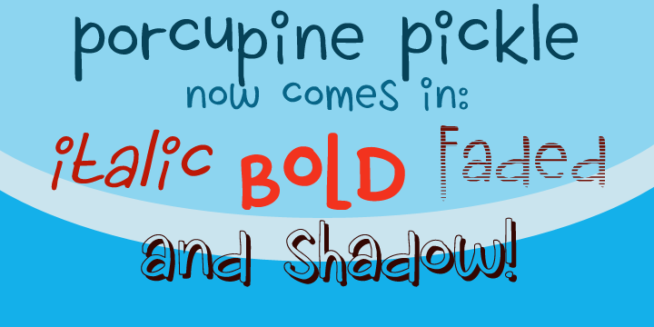 Porcupine Pickle | Webfont & Desktop font | MyFonts