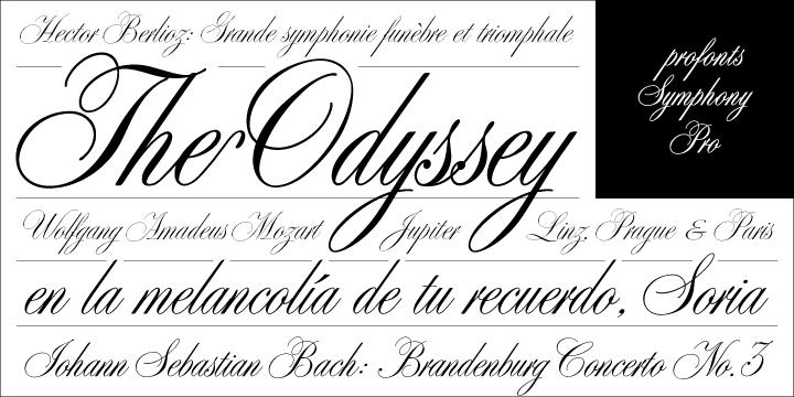 font symphony pro classical fonts myfonts adagio styles albums album