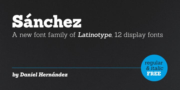 Sanchez Slab Font Download
