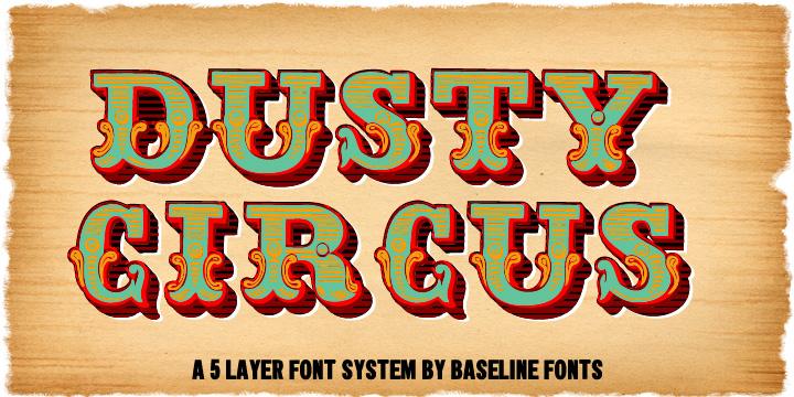 Dusty Circus Webfont Desktop Font Myfonts