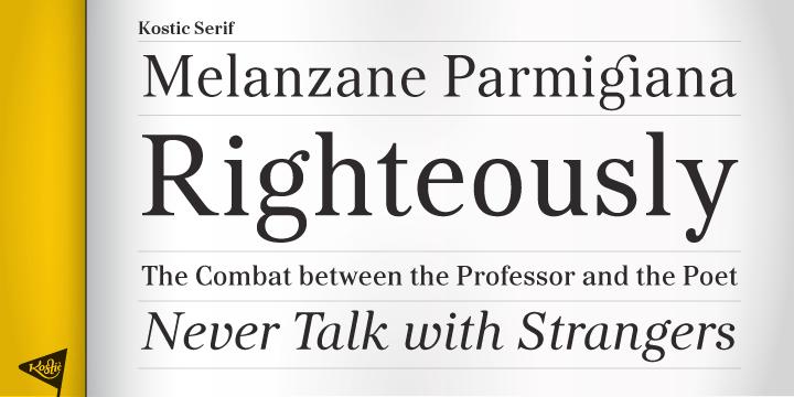 kostic serif medium font