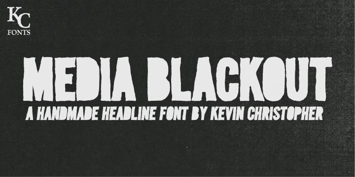 Media Blackout | Webfont & Desktop font | MyFonts