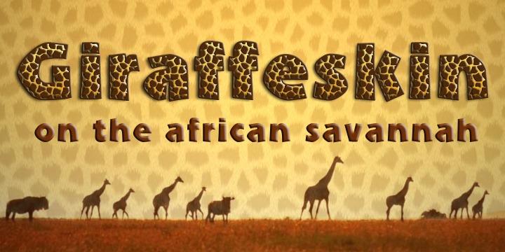 Giraffe Skin   Webfont & Desktop font   MyFonts