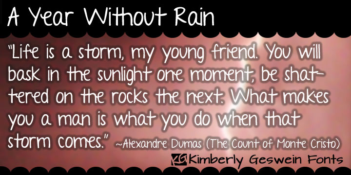 A Year Without Rain Font Webfont Desktop Myfonts