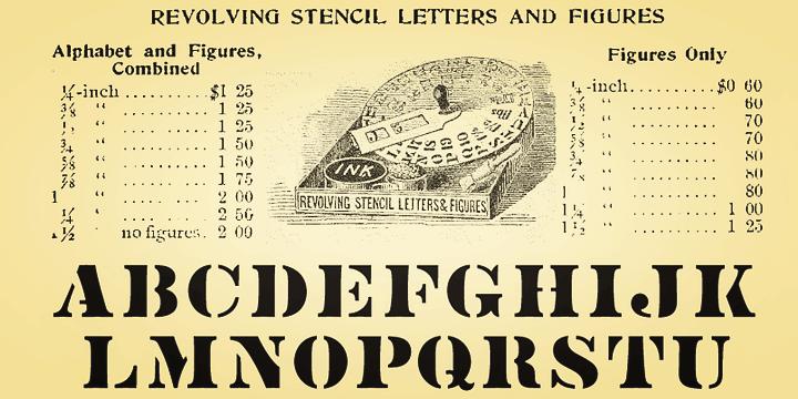 Vtg Stencil US No 4 | Webfont & Desktop font | MyFonts