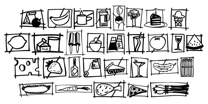 Food Doodles Webfont Desktop Font Myfonts