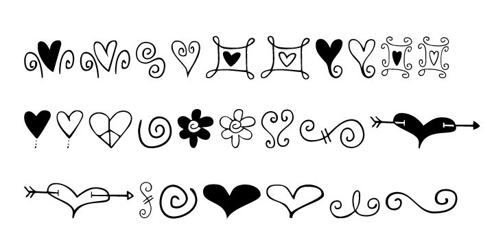 Hearts And Swirls Webfont Desktop Font Myfonts