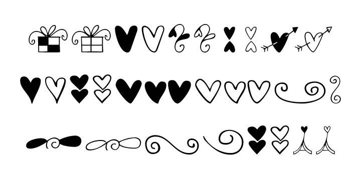 Hearts And Swirls | Webfont & Desktop font | MyFonts