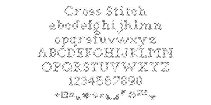 Cross Stitch   Webfont & Desktop font   MyFonts