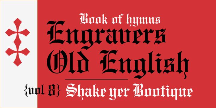 Monotype EngraversTM Old English