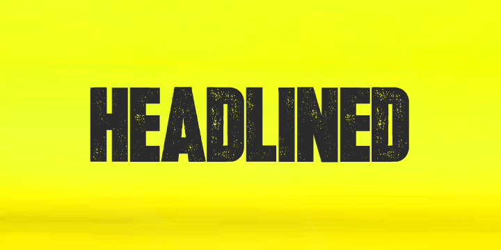 Headlined Font Download
