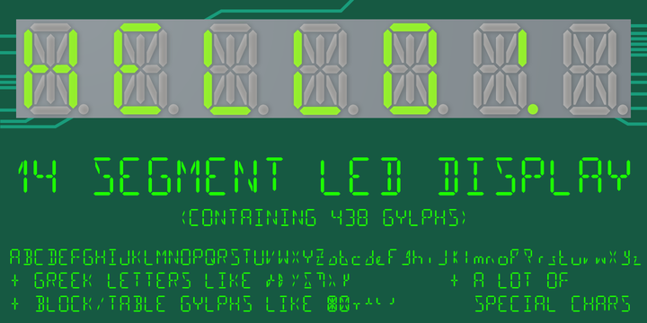 14 Segment LED Display   Webfont & Desktop font   MyFonts