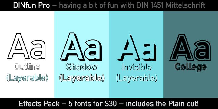 DINfun Pro Effects   Webfont & Desktop font   MyFonts