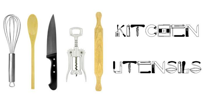 kitchen utensils webfont desktop font myfonts