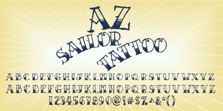 AZ Sailor Tattoo Does Not Mess Around A Gritty Hand Lettered Half Filled Nautical Font Truly Captures The Look And Feel Of Pencil