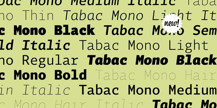 Tabac Mono | Webfont & Desktop font | MyFonts