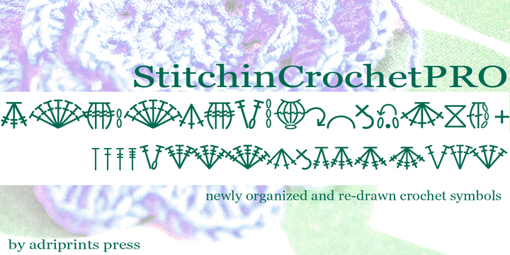 Stitchin Crochet Pro Webfont Desktop Font Myfonts