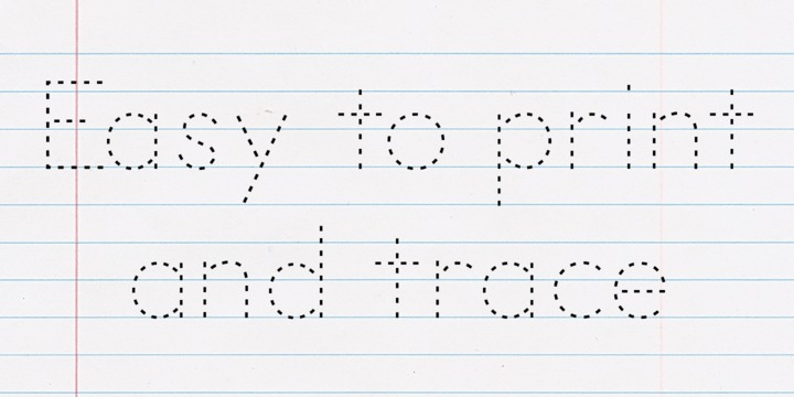 I need a dotted font to write letters with in word can anyone help please?