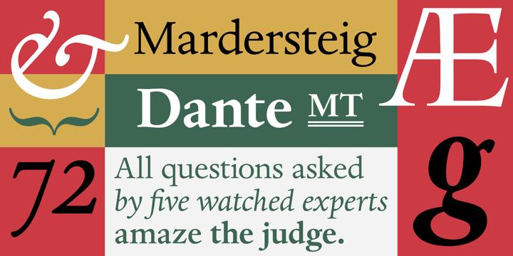 Dante® - Desktop font « MyFonts