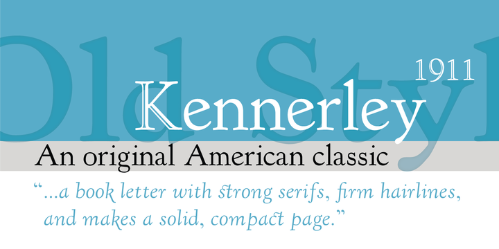 LTC Kennerley Font Poster 1