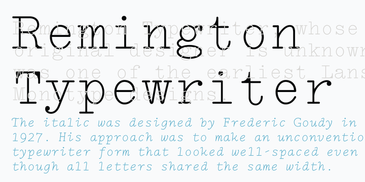 LTC Remington Typewriter | Webfont & Desktop font | MyFonts