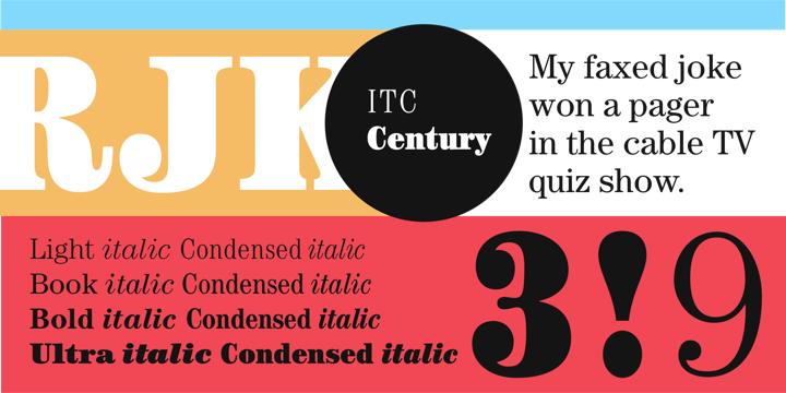 Itc Century Book