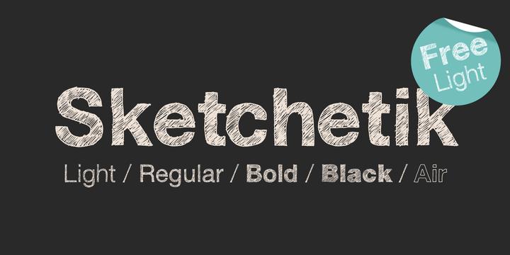 Sketchetik Free Font Download