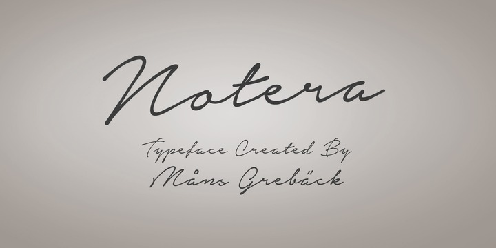 Notera Font Download