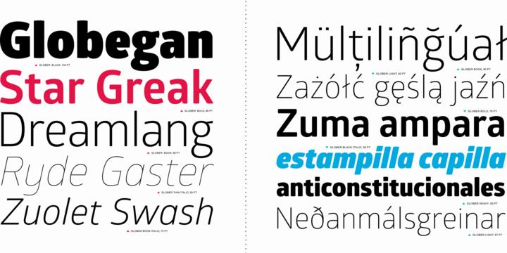 المجموعـة Glober Font Family Fonts 9 2014,2015 134180.png