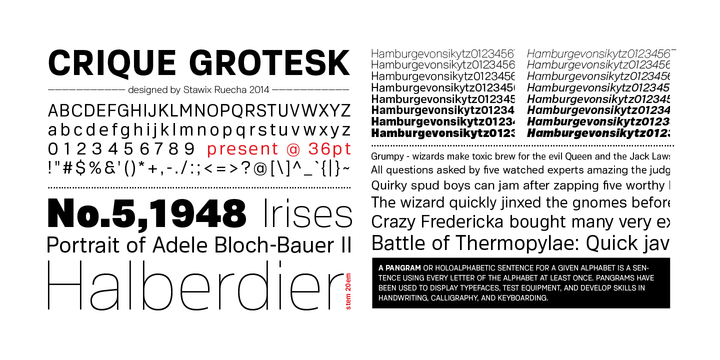 REQUEST] Crique Grotesk (Stawix Foundry) - PrintRoot Forums