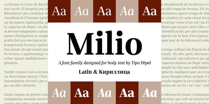 Milio | Webfont & Desktop font | MyFonts