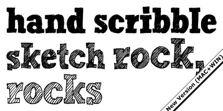Hand Scribble Sketch Rock | Webfont & Desktop font | MyFonts