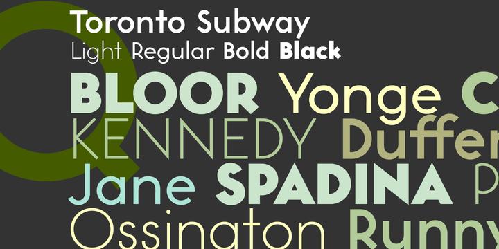 Toronto Subway Map Poster.Toronto Subway Webfont Desktop Font Myfonts