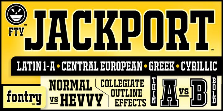 FTY JACKPORT | Webfont & Desktop font | MyFonts