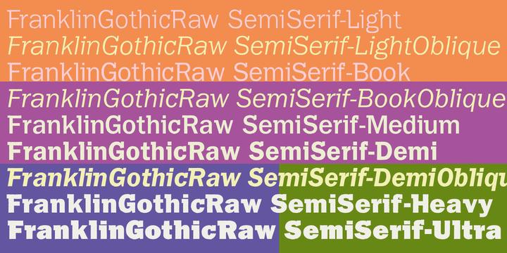 Franklin Gothic Raw Semi Serif | Webfont & Desktop font