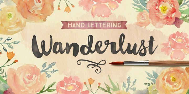 tipografía lettering acuarela