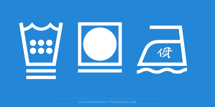 Care Instructions PT | Webfont & Desktop font | MyFonts